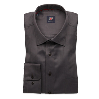 Men's classic shirt London (height 188-194) 8673 in graphite color