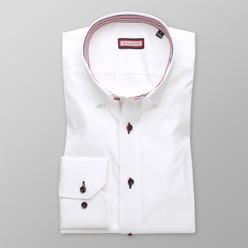 Men slim fit shirt (height 176-182 I 188-194) 8705 in white color