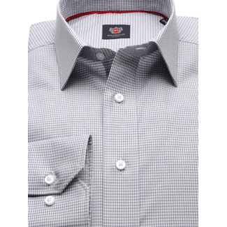 Men SLIM FIT shirt London (height 176-182) 8709 n gray color and PEPITO pattern