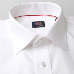 Men's classic cut Shirt LONDON (height 176-182) 8712 White color 2W PLUS Treatment