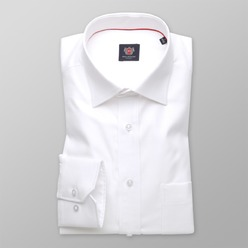 Men's classic cut Shirt LONDON (height 176-182) 8714 White color 2W PLUS Treatment