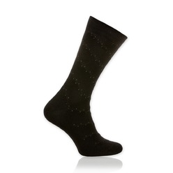 Men's socks Willsoor 8727 in black color with dots