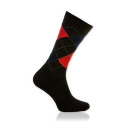 Men socks Willsoor 8731 in black color with pattern