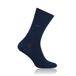 Men's bamboo socks Willsoor 8732 in dark blue color