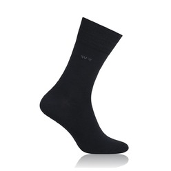 Men's bamboo socks Willsoor 8733 in black color
