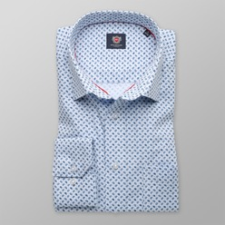 Men's Classic Cut Shirt London (height 188-194) 8743 Light Blue color with Paisley Pattern