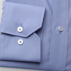 Men slim fit shirt London (height 176-182) 8751 in blue color with 2W Plus treatment