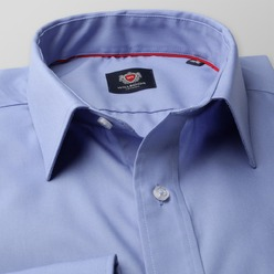 Men's Classic Shirt London (height 176-182) 8752 in blue color with 2W Plus treatment