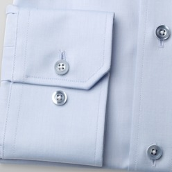 Men's SLIM FIT cut shirt London (height 176-182) 8753 in light blue color and  Two-Ply treatment