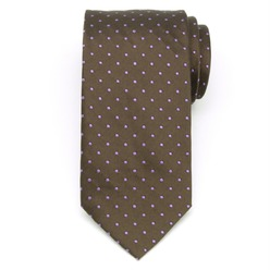 Men's silk tie in brown 8958, Willsoor