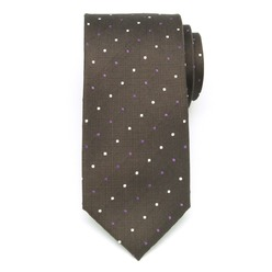 Men's silk tie in brown color 8982, Willsoor