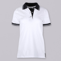 Womens polo t-shirt 9352 in white color, Willsoor