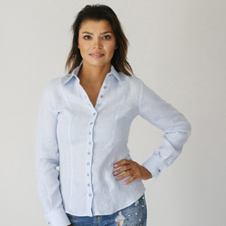Light blue women's shirt 9571