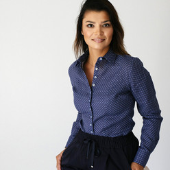 Stylish women's dark blue shirt  9582