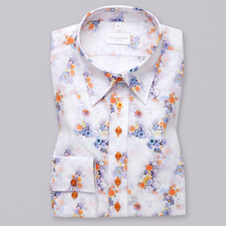 Women's cotton shirt with flower pattern 9593, Willsoor