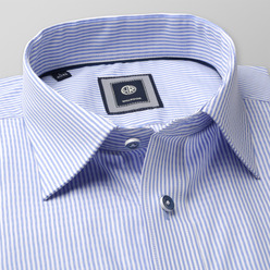 Men's slim fit shirt with fine strip (height 176-182)  9597, Willsoor