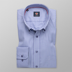 Men's checkered slim fit London shirt  (height 176-182) 9613 Slim Fit