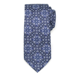Men's silk tie with geometric pattern 9619, Willsoor