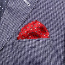 Pocket square with floral pattern 9629, Willsoor