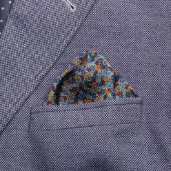 Pocket square with plant pattern 9631, Willsoor