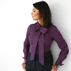 Women's shirt with bow 9693