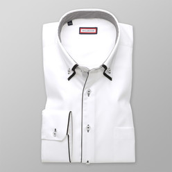 Classic shirt with contrast elements  (height 176-182 a 188-194) 9731