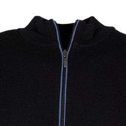 Black zipped cardigan Willsoor  (size to 5XL) 9775, Willsoor