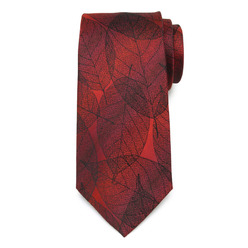 Men's red silk tie 9777, Willsoor