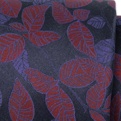 Men's silk tie with leaf pattern 9779, Willsoor