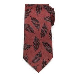 Men's claret silk tie  9781, Willsoor