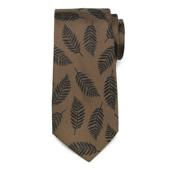 Men's brown silk tie  9782, Willsoor