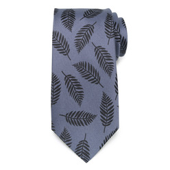 Blue silk tie 9784, Willsoor