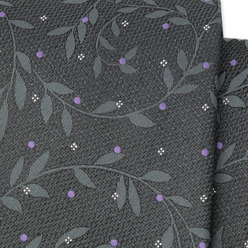 Classic graphite tie with leaf pattern 9791, Willsoor