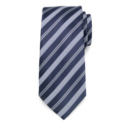 Dark blue tie with strips pattern 9799, Willsoor