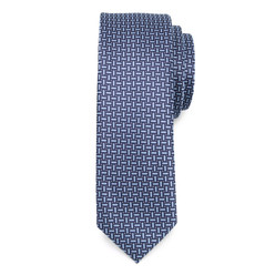 Narrow tie in blue color with fine pattern 9809, Willsoor