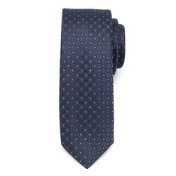 Men's narrow tie with dots 9813, Willsoor