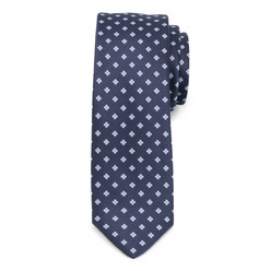 Narrow tie with floral pattern 9814, Willsoor