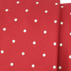 Red narrow tie with dots 9816, Willsoor
