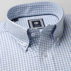 Slim fit shirt with gingham pattern(height 176-182) 9872