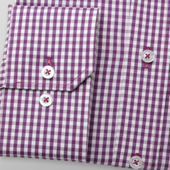 Slim fit shirt with gingham pattern (height 176-182) 9888