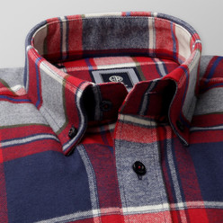 Classic shirt with check pattern (height 176-182 a 188-194) 9913, Willsoor