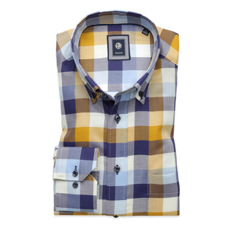 Men's classic shirt with check pattern (height 176-182 I 188-194) 9916, Willsoor