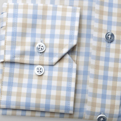 Attractive London classic shirt with check pattern (height 176-182) 9918, Willsoor