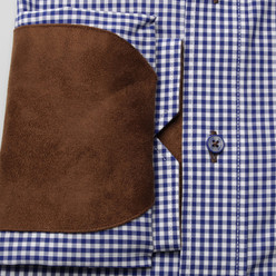 Classic cotton shirt with contrast elements (height 176-182) 9934, Willsoor