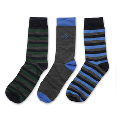 Set of 3 men's socks in grey-blue-green 9936