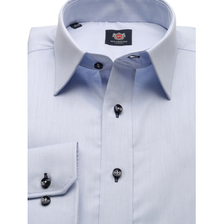 Slim fit shirt in light blue color (height 198-204) 9941, Willsoor