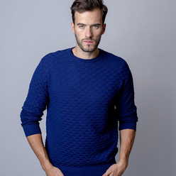 Men's sweater with a fine pattern 9945