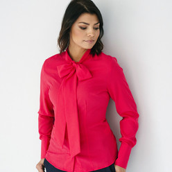 Women's shirt with a ribbon in raspberry color 9948