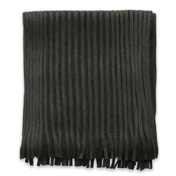 Men's scarf in grey-graphite color with strips 9965, Willsoor