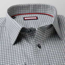 Slim fit shirt with dark blue pattern  (height 176-182 I 188-194) 9997